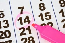 Foto von einem Kalender